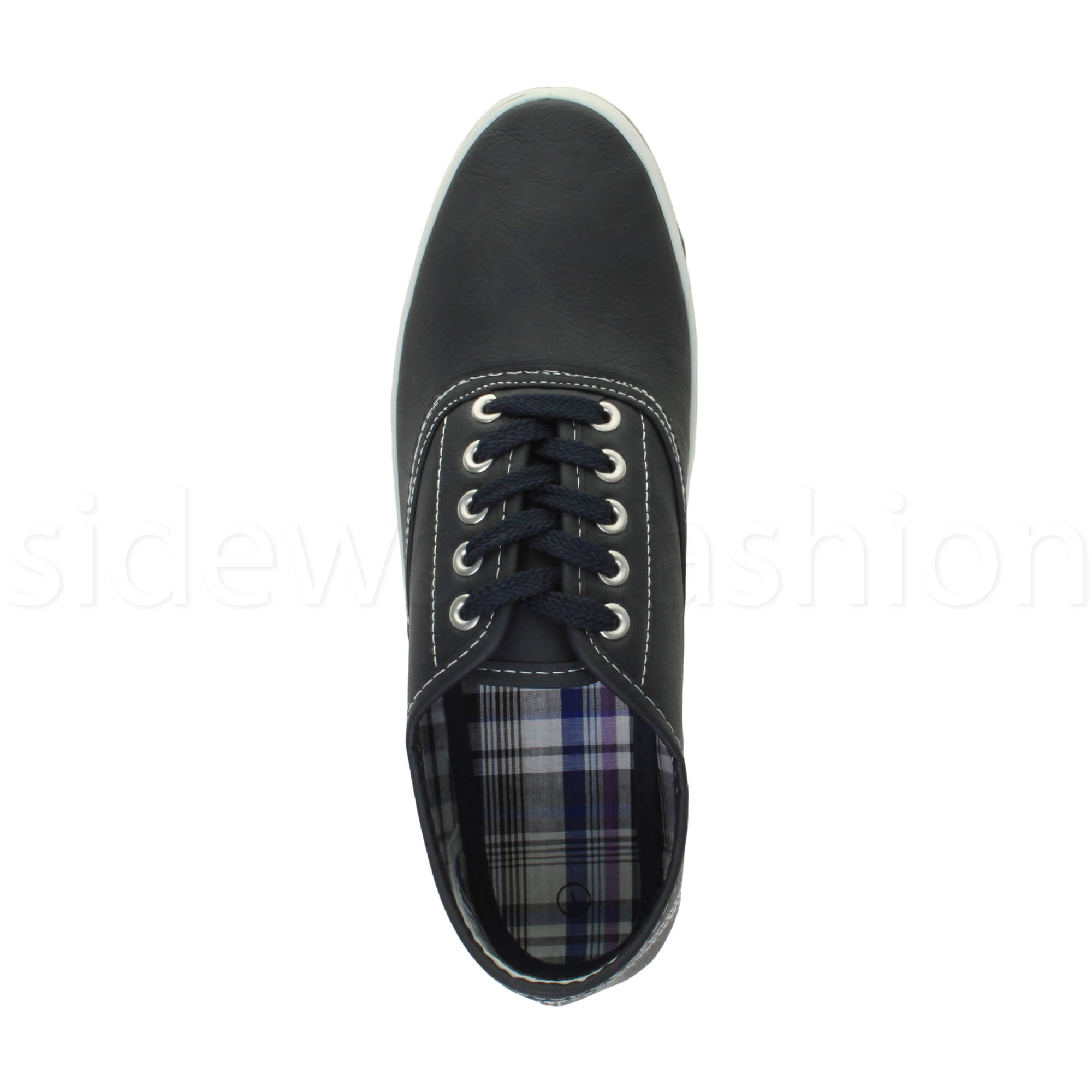 Mens-flat-lace-up-work-smart-plain-casual-pump-plimsoles-trainers-shoes-size thumbnail 13