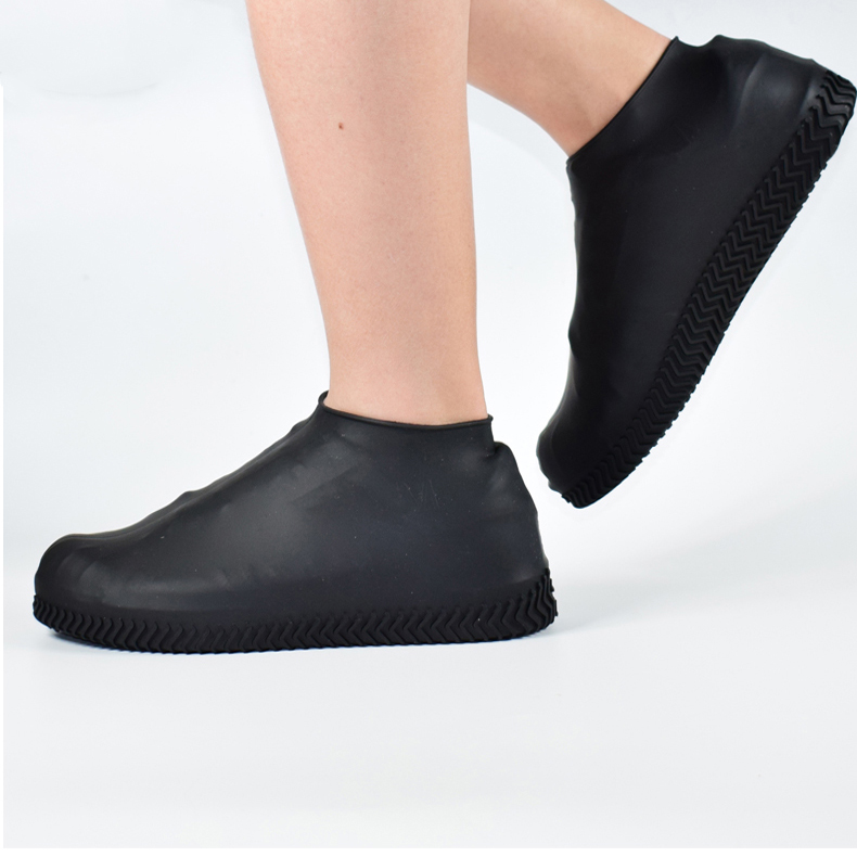 Silicone-Overshoes-Rain-Waterproof-Shoe-Covers-Boot-Cover-Protector-Recyclable miniature 3