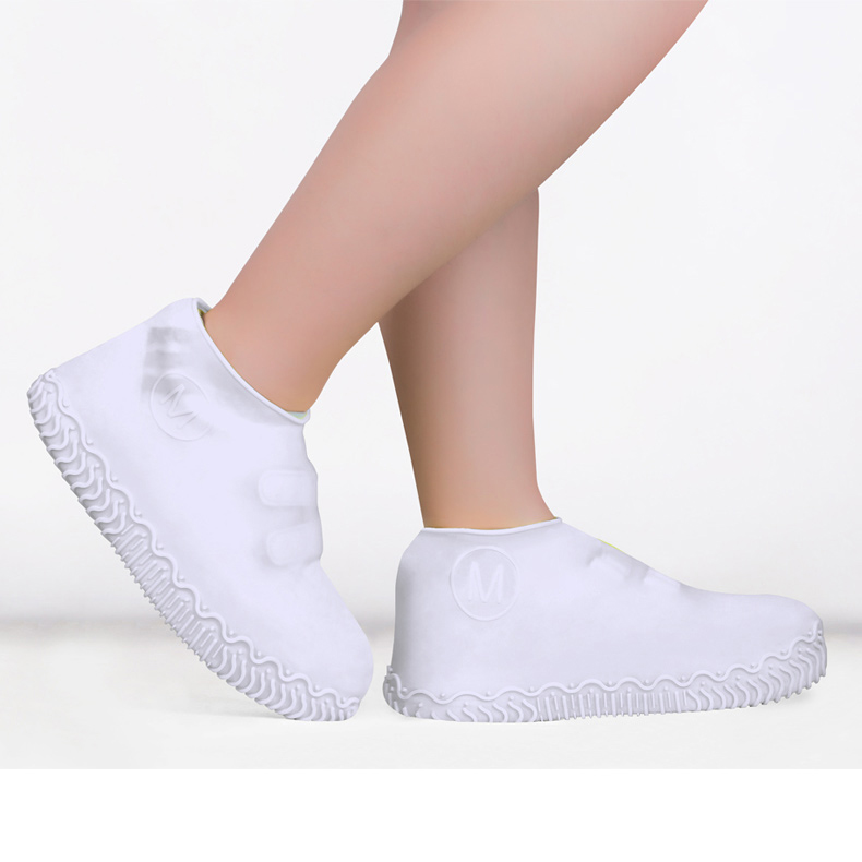 Silicone-Overshoes-Rain-Waterproof-Shoe-Covers-Boot-Cover-Protector-Recyclable miniature 7