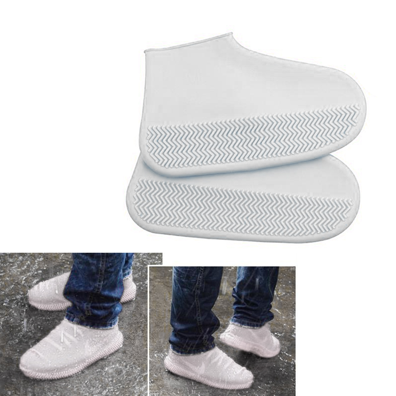 Silicone-Overshoes-Rain-Waterproof-Shoe-Covers-Boot-Cover-Protector-Recyclable miniature 8