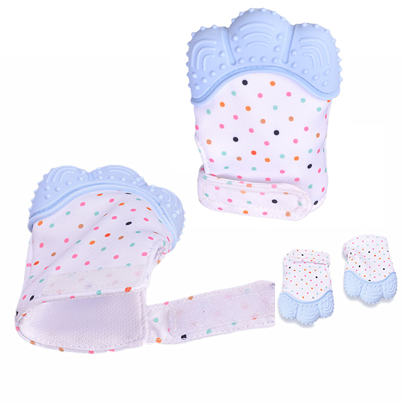 UK Teething Mitten For Babies Glove Mit Self Soothing Pain Relief Baby Chew Age