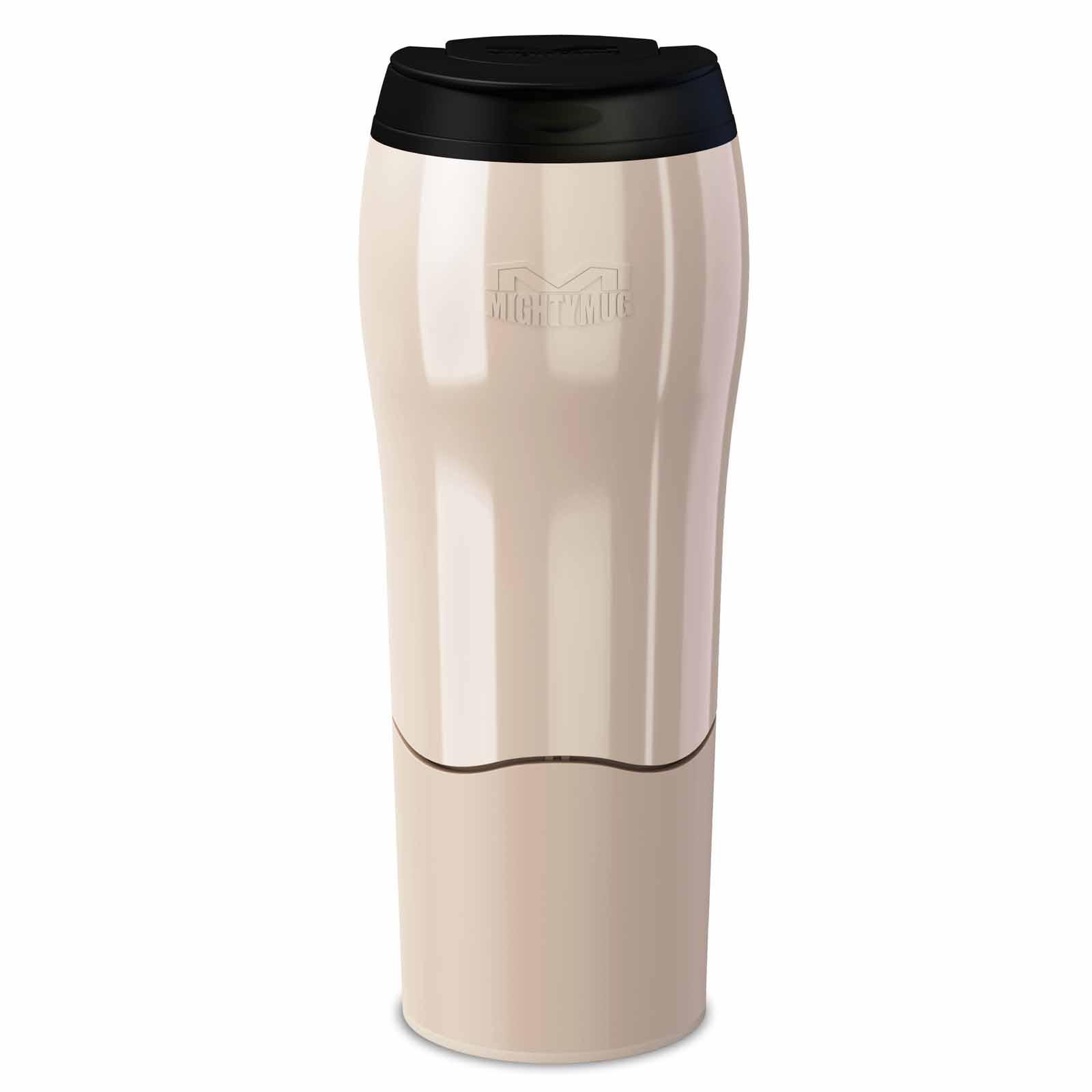 d26b3f49af6 Dexam Mighty Mug Pearl Cream Travel Mug 470ml No Spill Design Leak ...