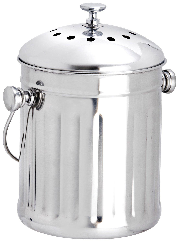 Eddingtons Mini Edelstahl Kompost Eimer Mülleimer Eimer Müll ...