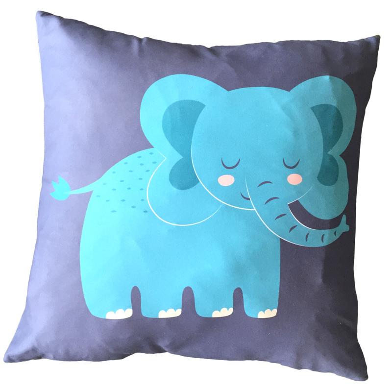 Children/'s Scatter Cushion Kids Travel Pillow Black /& White Cow Print Design