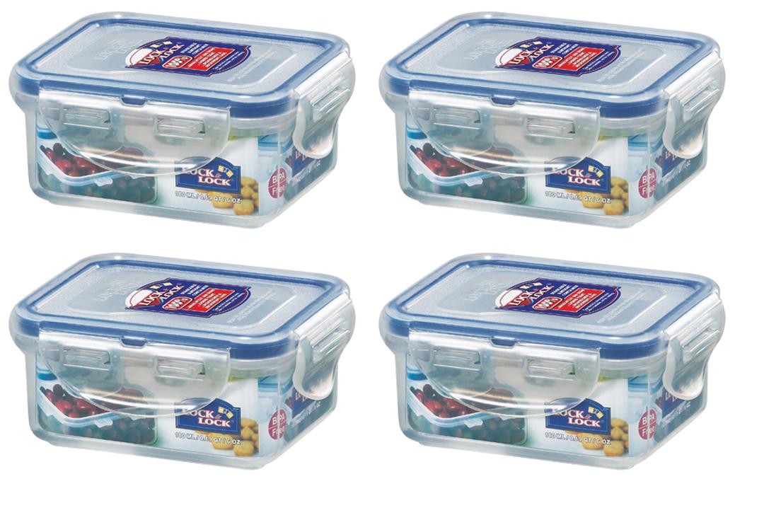 180ml HPL805 Rectangular 6 x LOCK /& Lock alimentos de plástico recipiente de almacenamiento