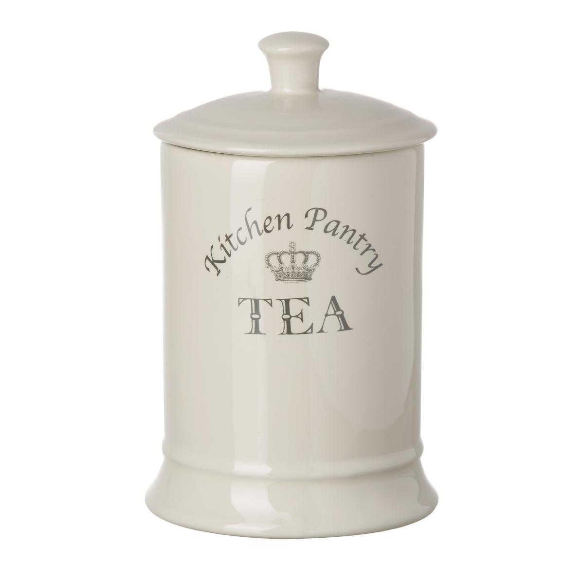Tuftop Majestetisch Tee Kanister Creme Krone Lizenzfreie ...