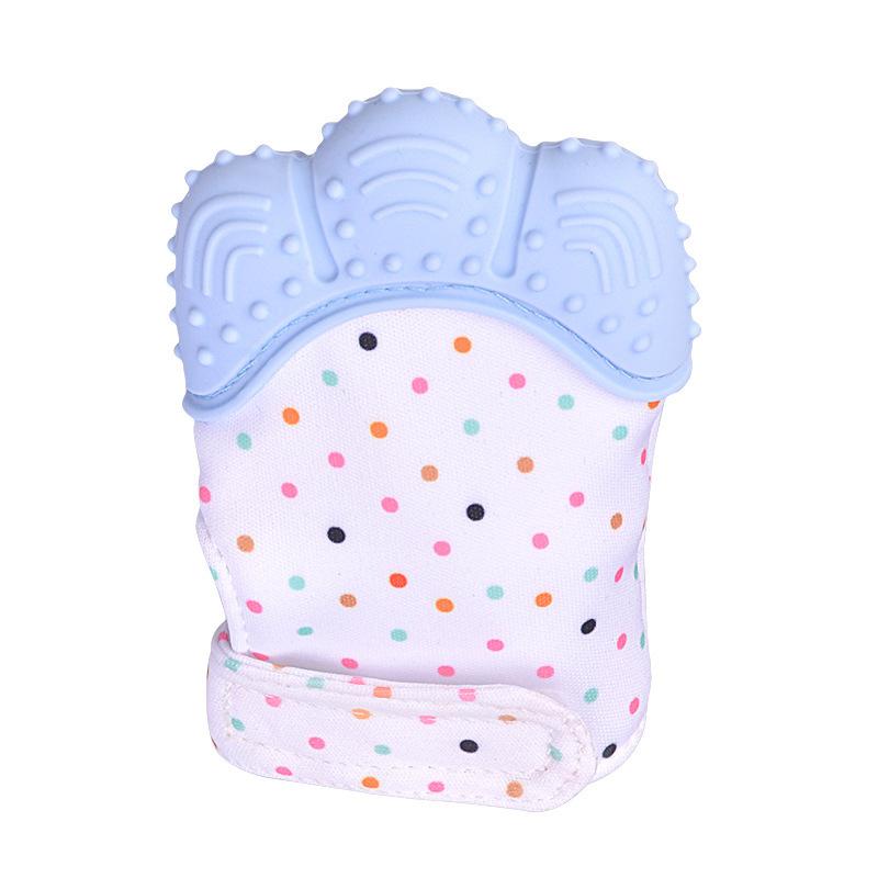 Silicone Baby Teether Teething Mitt Mitten Glove Safe BPA Free Chew Dummy Toy IK