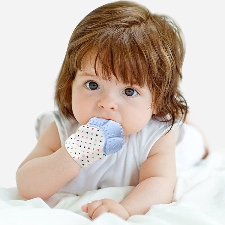 New Silicone Baby Teething Mitt Teether Mitten Glove Safe BPA Chew Dummy Toy UK