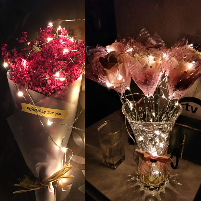 UK 10x 20 LED BATTERY OPERATED MICRO SILVER WIRE STRING FAIRY PARTY XMAS WEDDING