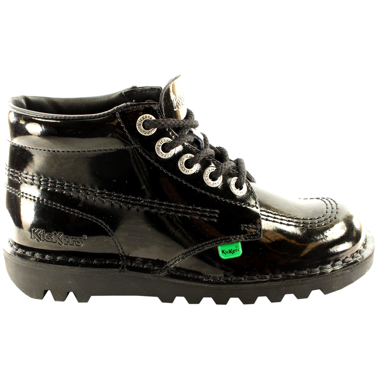 36 Classique Travail Détails Brevet Chaussure Eu Bottes Kickers Hi 42 Femmes Bureau Sur Kick 7ygfb6