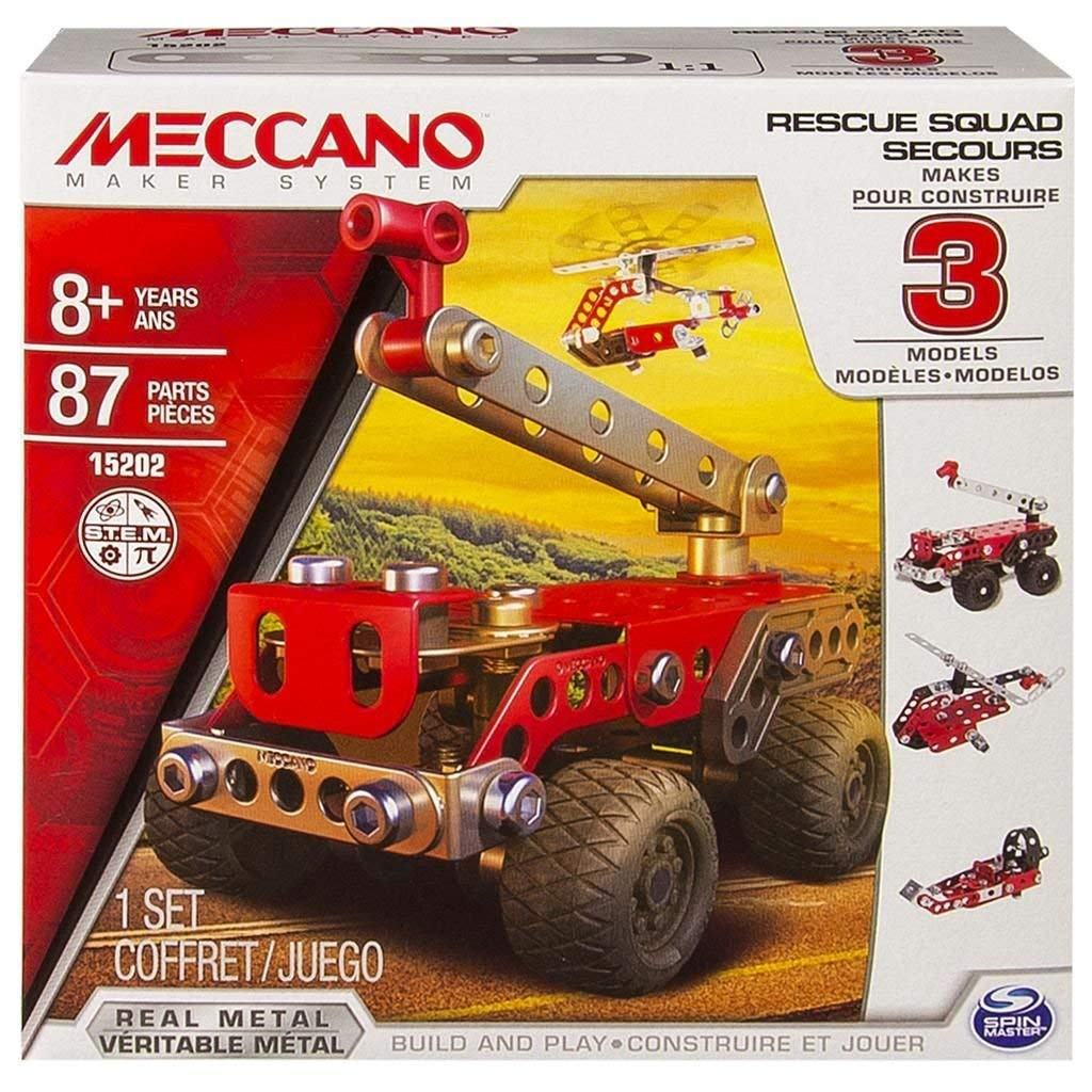 Meccano Meccano Meccano Multi Models 3 Model Set - Rescue bb3040