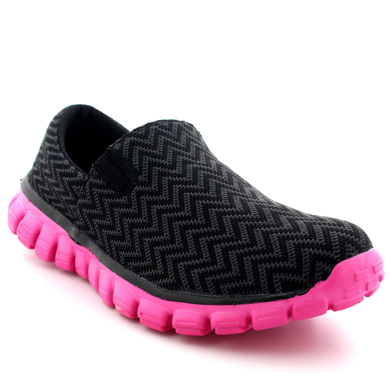 Buy Womens Jogging Walking Gym Shoes Sports Work Running Slip on ... c6977af41
