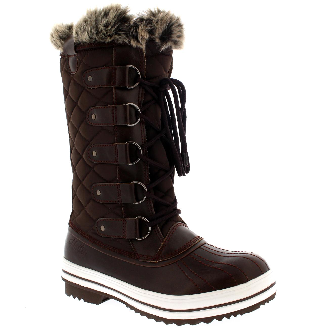 womens snow boot winter fur lined snow warm