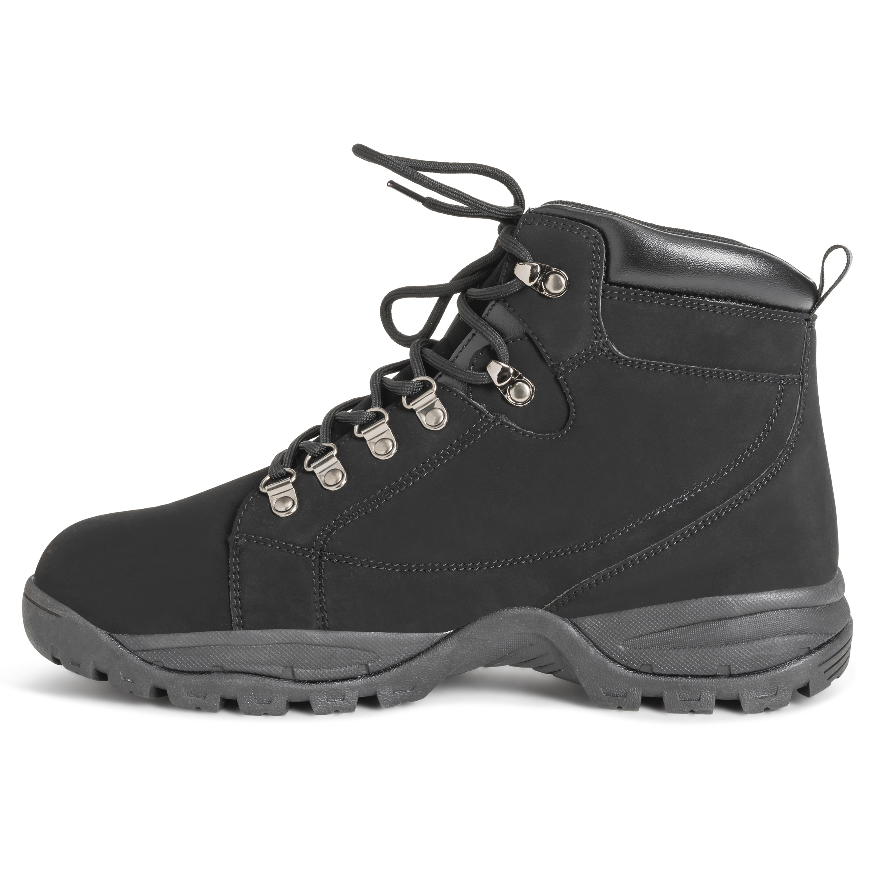 27afca164100 Details about Mens Hiker Safety Durable Rubber Sole Work Leather Steel Toe  Cap Boots US 7-15