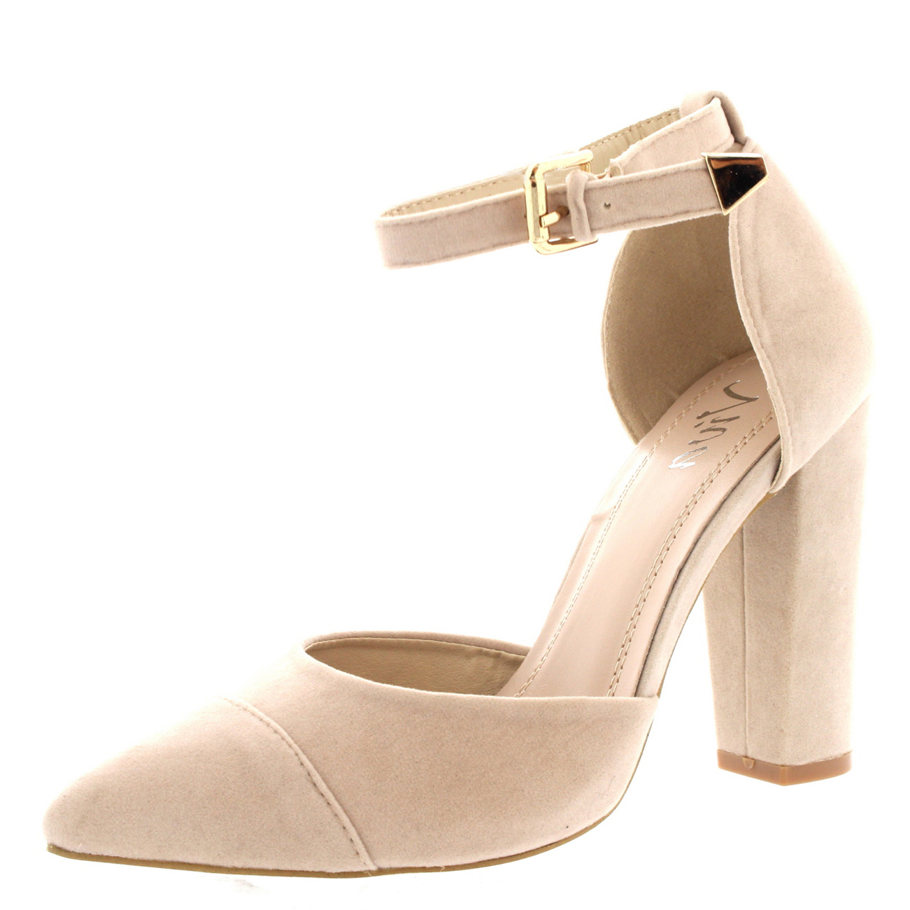 Womens Office Evening Pumps Ankle Strap Pointed Toe Sandal ...