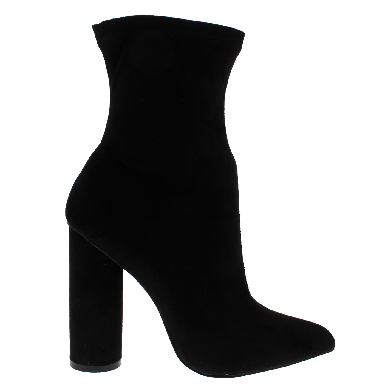 11c56f224366 Womens Pointed Toe Sock Fit Chic Fashion Block Heel Dress Ankle Boots US  5-12