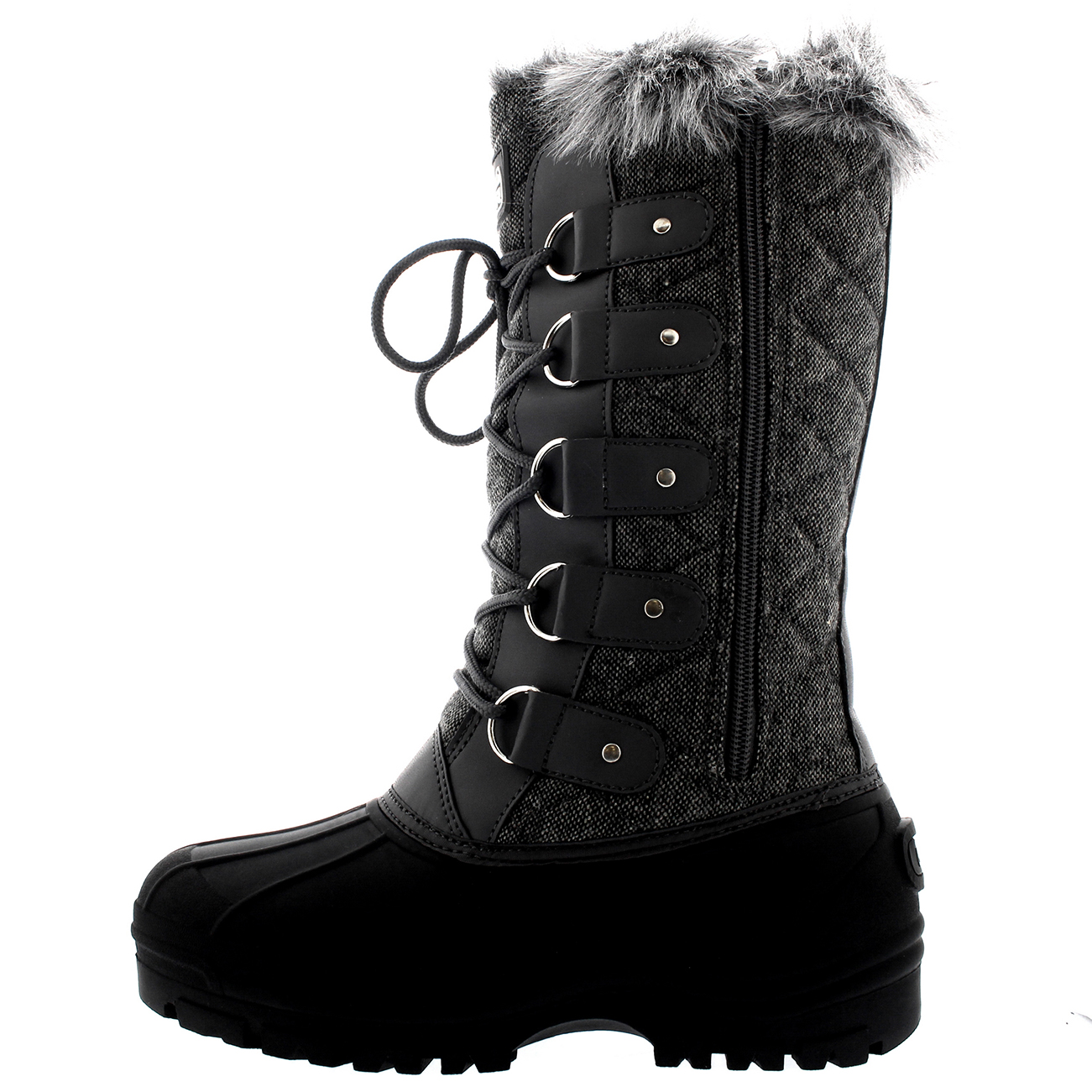 Womens Waterproof Tactical Mountain Walking Snow Fur Lined ...