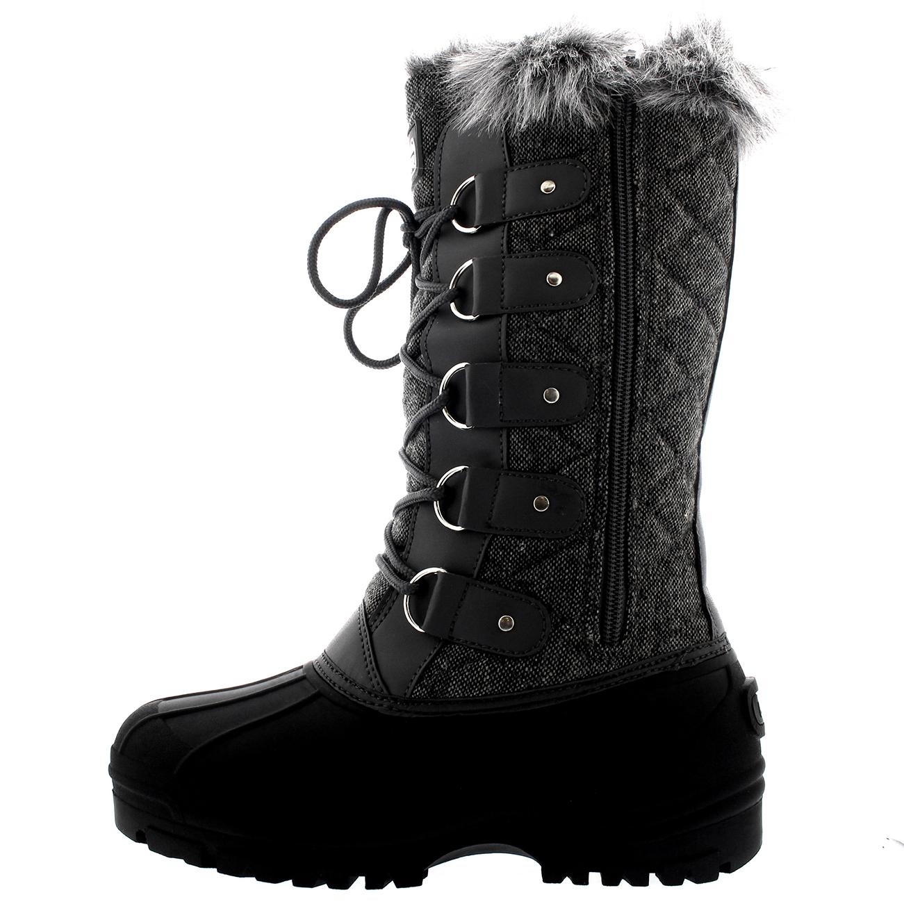Womens Waterproof Tactical Mountain Walking Snow Fur Lined