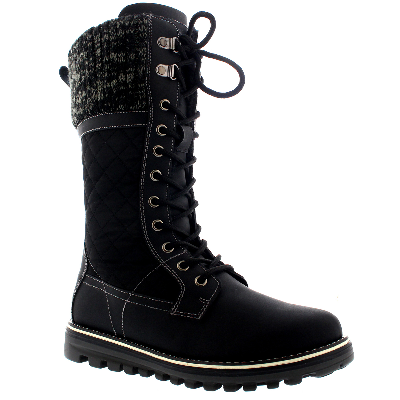 Womens Classic Winter Snow Outdoor Warm Durable Mid Calf Snow Boots