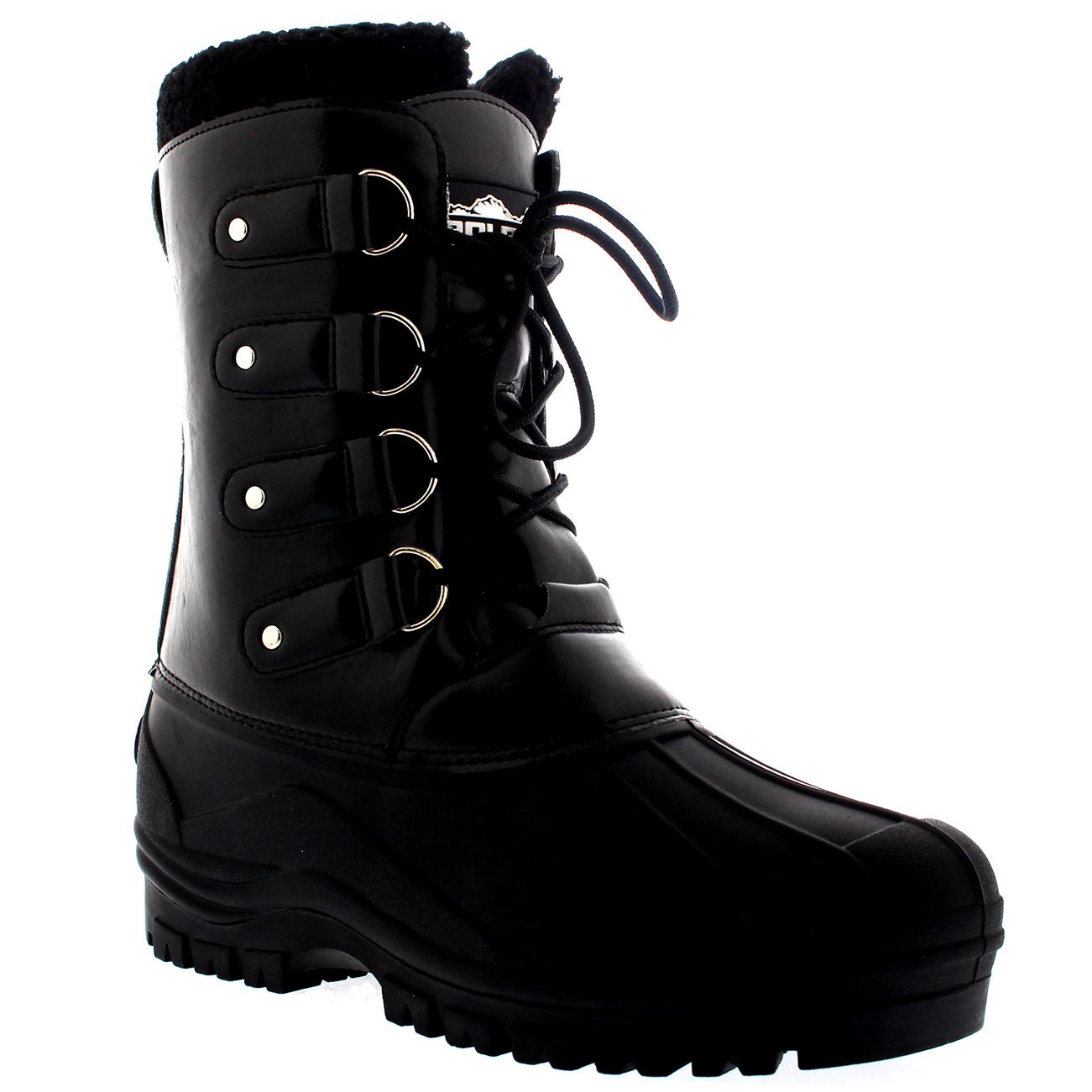 ad7043b903d73c Mens Outdoor Waterproof Hiking Faux Fur Duck Mountain Dog Walking Boots US  7-15