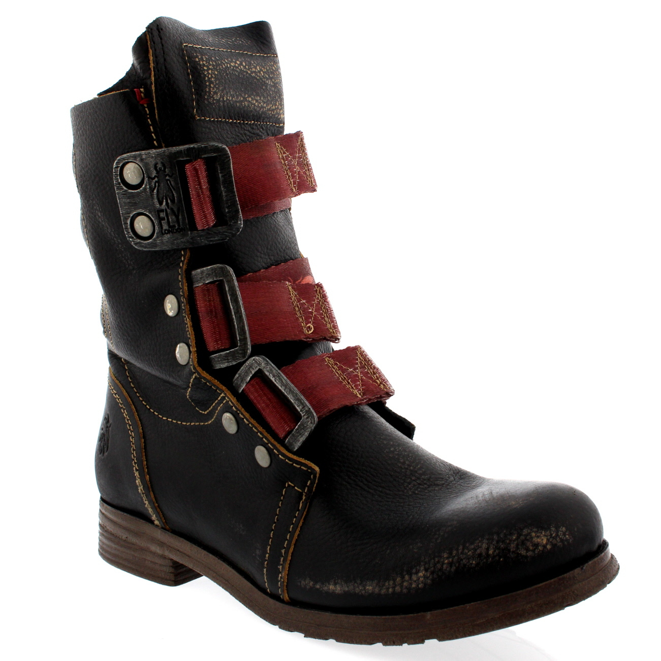 womens fly stif leather pull on biker