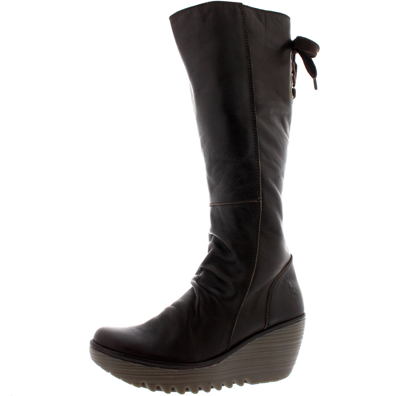 Leather womens snow boots