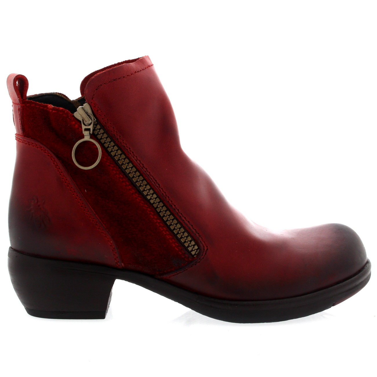 Womens Fly London Meli Rug Low Heel Casual Cowboy Leather Ankle ... 367057409