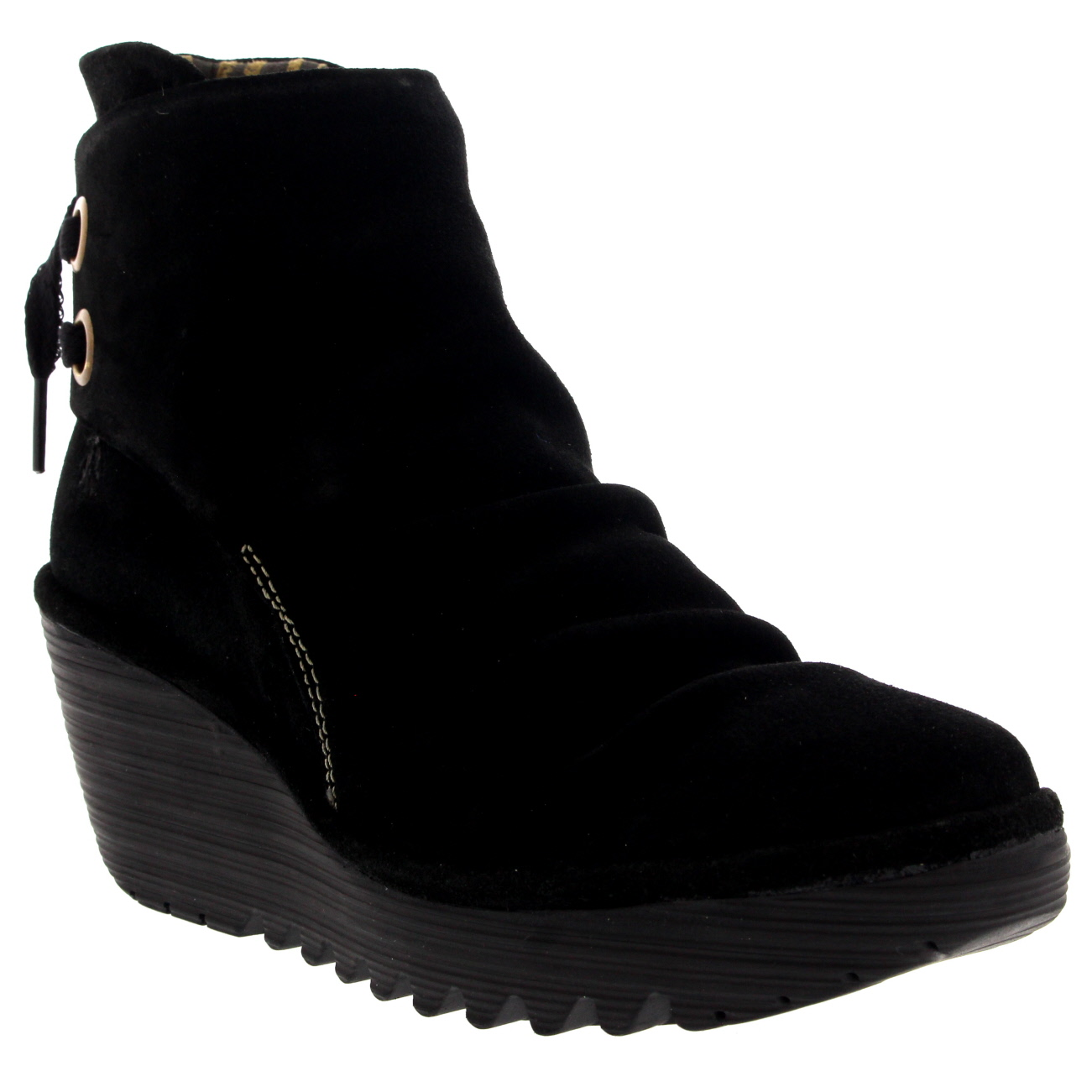 Womens-Fly-London-Yama-Lace-Up-Oil-Suede-Winter-Wedge-Heel-Ankle-Boots-US-5-12