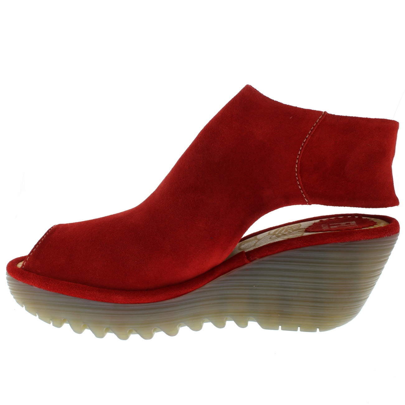 donna Fly London Yone Peep Toe Suede Suede Suede Holiday scarpe Summer Wedge Heels US 5-11 415160
