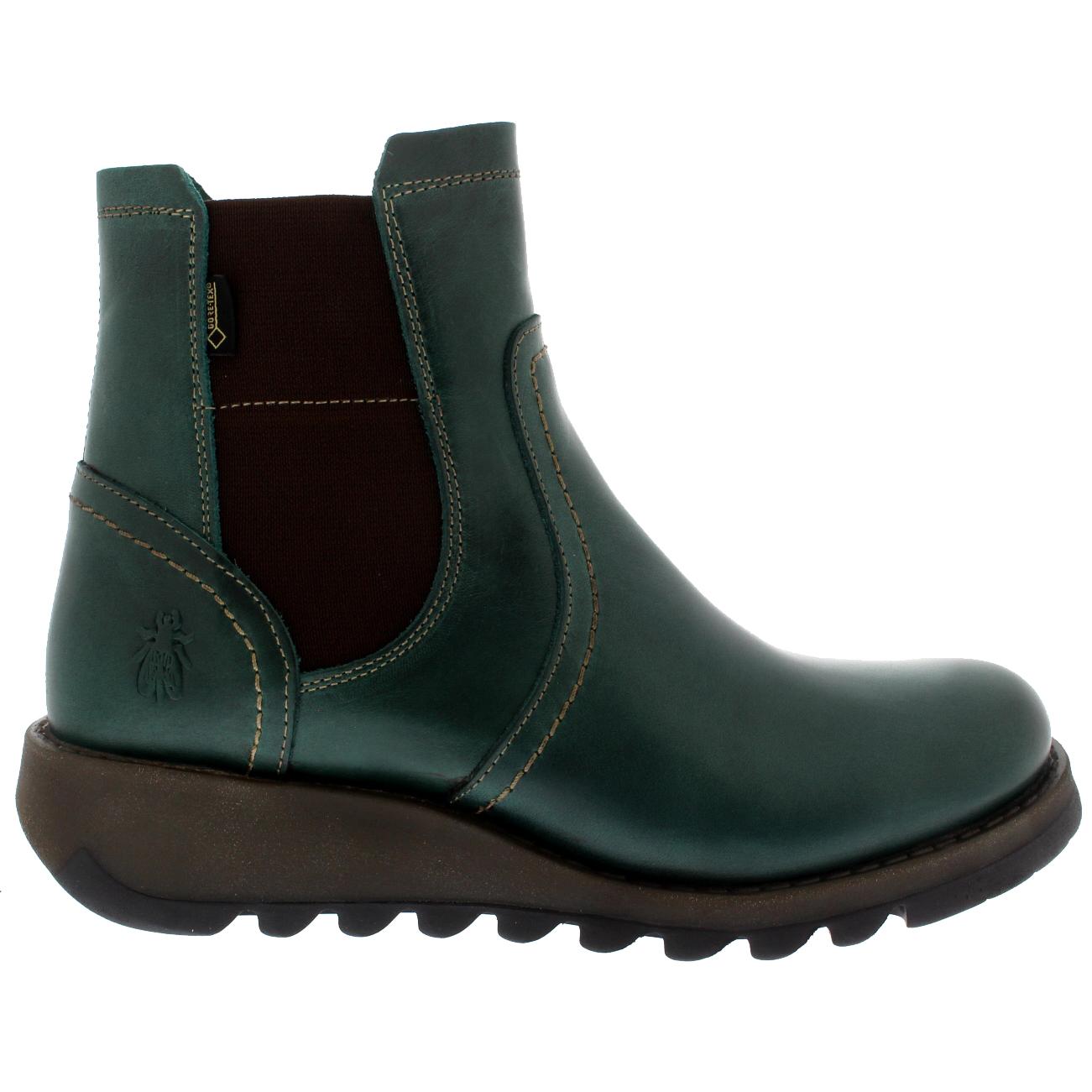 Damenschuhe Leder Fly London Scon Gore Tex Winter Ankle Stiefel Leder Damenschuhe Wedge Heels US 5-12 f39138