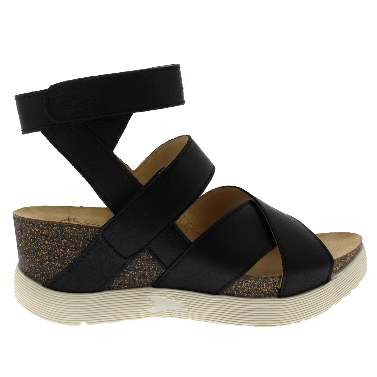 Womens-Fly-London-Wedge-Leather-Open-Toe-Summer-Cut-Out-Sandals-US-5-12 thumbnail 13