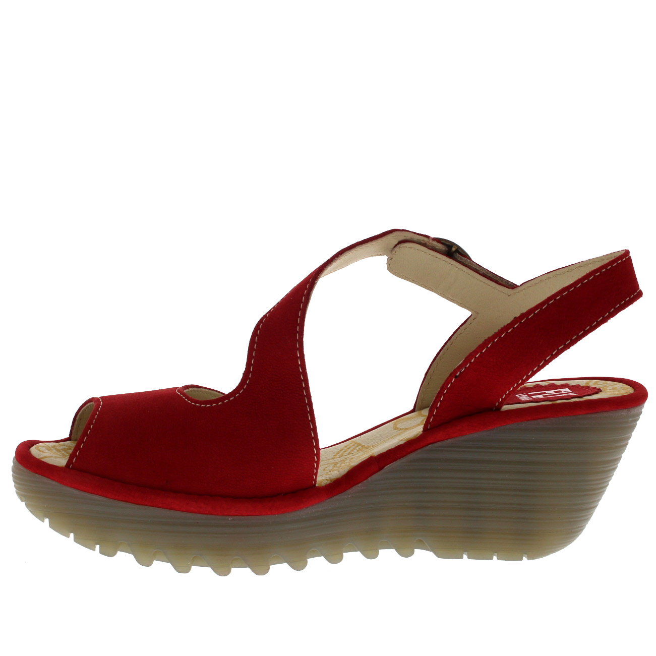 Womens-Fly-London-Yamp-Peep-Toe-Summer-Cut-Out-Buckle-Wedge-Heel-Sandals-US-5-12 thumbnail 15