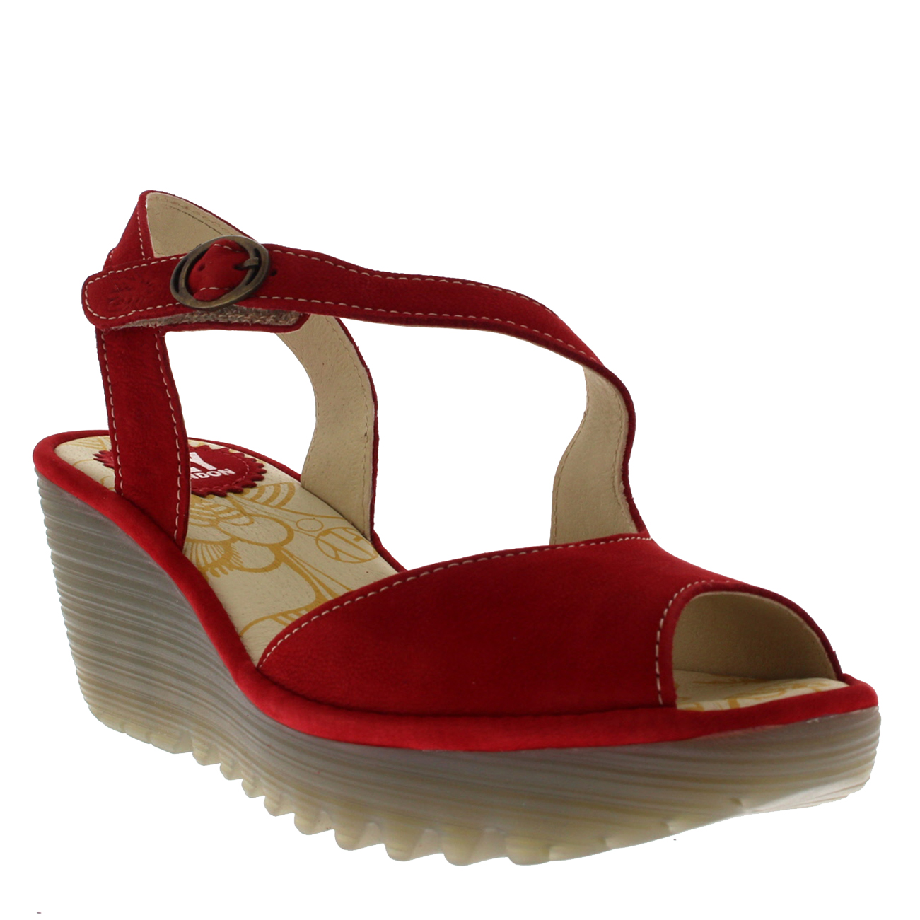 Womens-Fly-London-Yamp-Peep-Toe-Summer-Cut-Out-Buckle-Wedge-Heel-Sandals-US-5-12 thumbnail 16