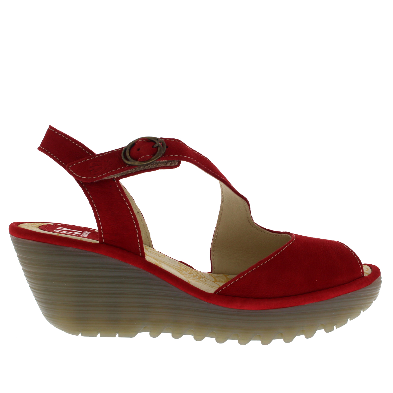 Womens-Fly-London-Yamp-Peep-Toe-Summer-Cut-Out-Buckle-Wedge-Heel-Sandals-US-5-12 thumbnail 17