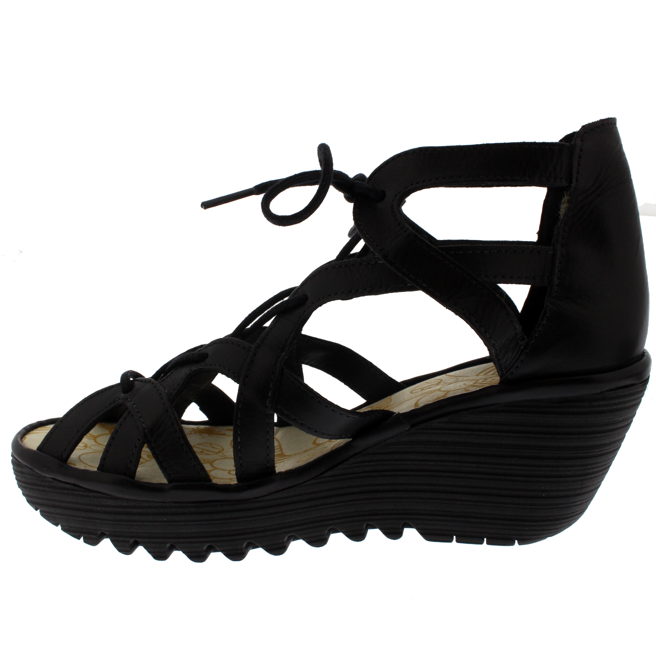 Damenschuhe Fly London Yeli Summer Colmar Leder Leder Colmar Wedges Cut Out Schuhes Sandale US 5-12 a2edaf