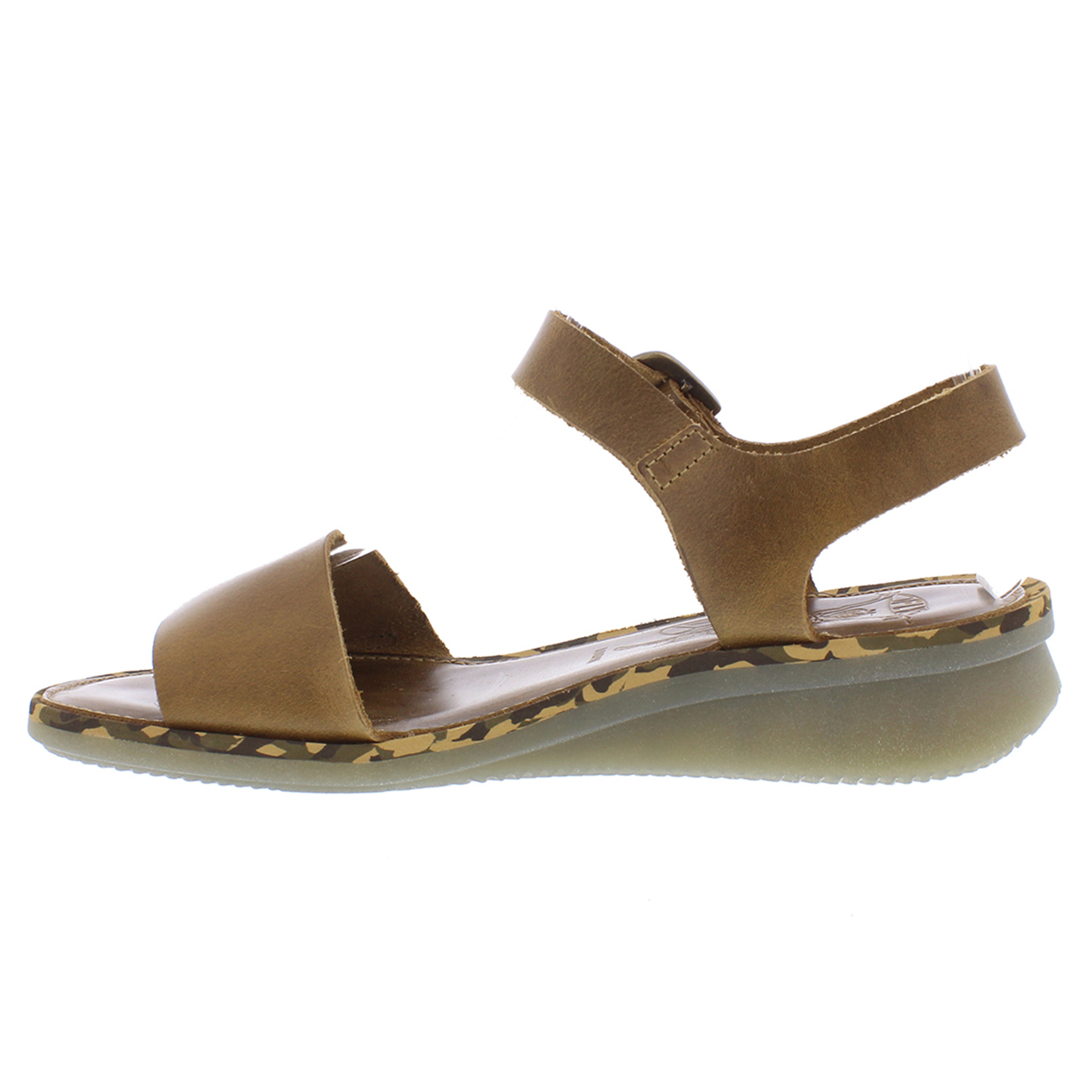 Womens Fly London Comb Bridle Open Toe Cut Out Buckle Low Wedge Sandals UK 3-9