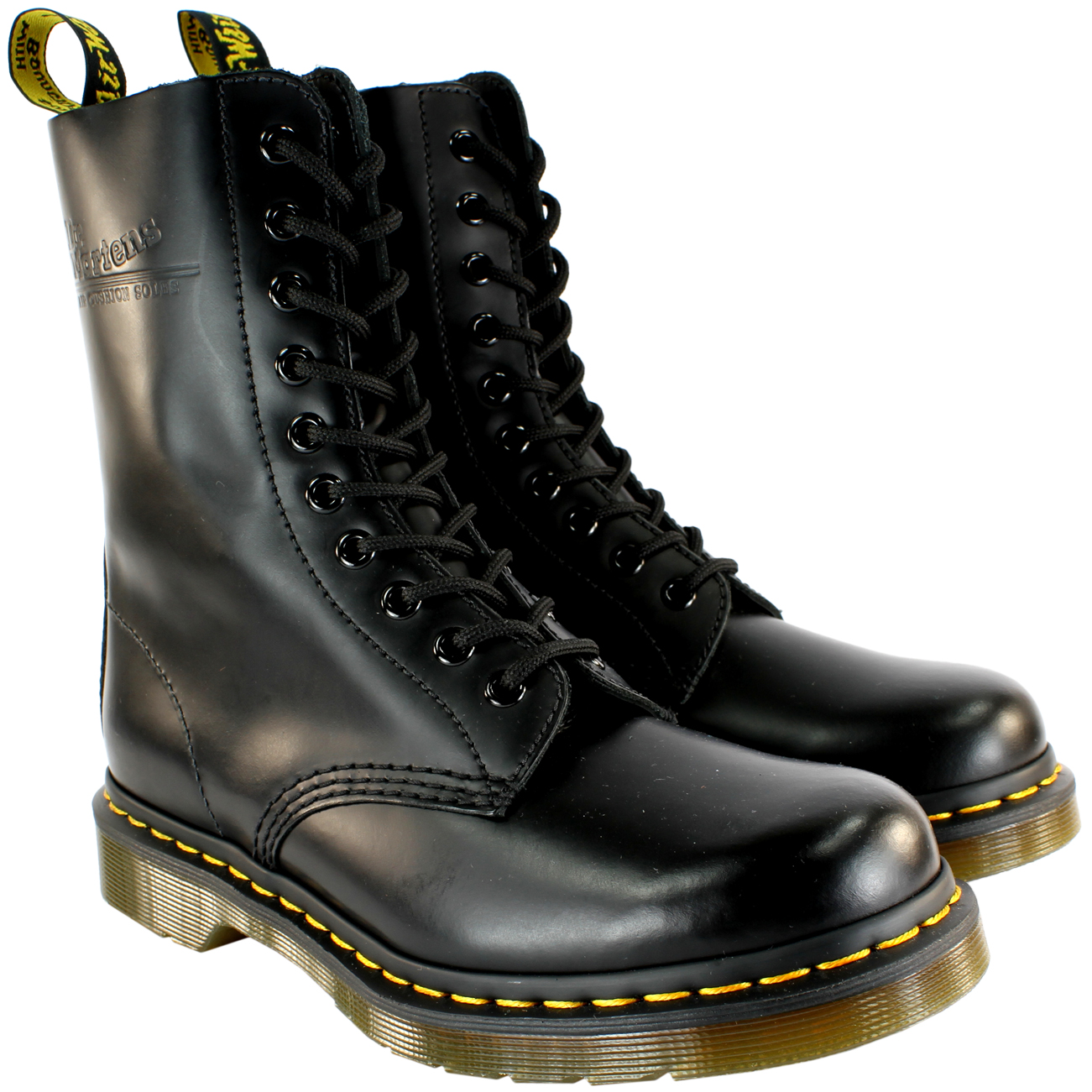 221f56a44f9 Details about Mens Dr Martens Classic 1490 Black Vintage Leather Lace Up  Boots US Sizes 8-13