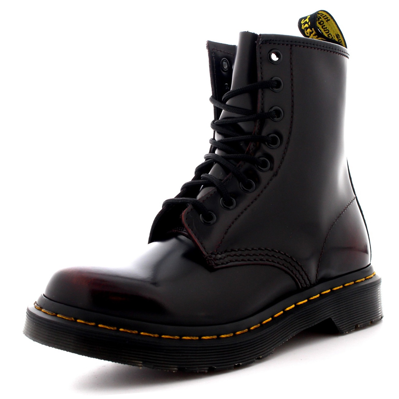 Details about Womens Dr Martens 1460 Arcadia Burnished Leather Cherry Red  Ankle Boots US 5-11 3cb4db8dc2