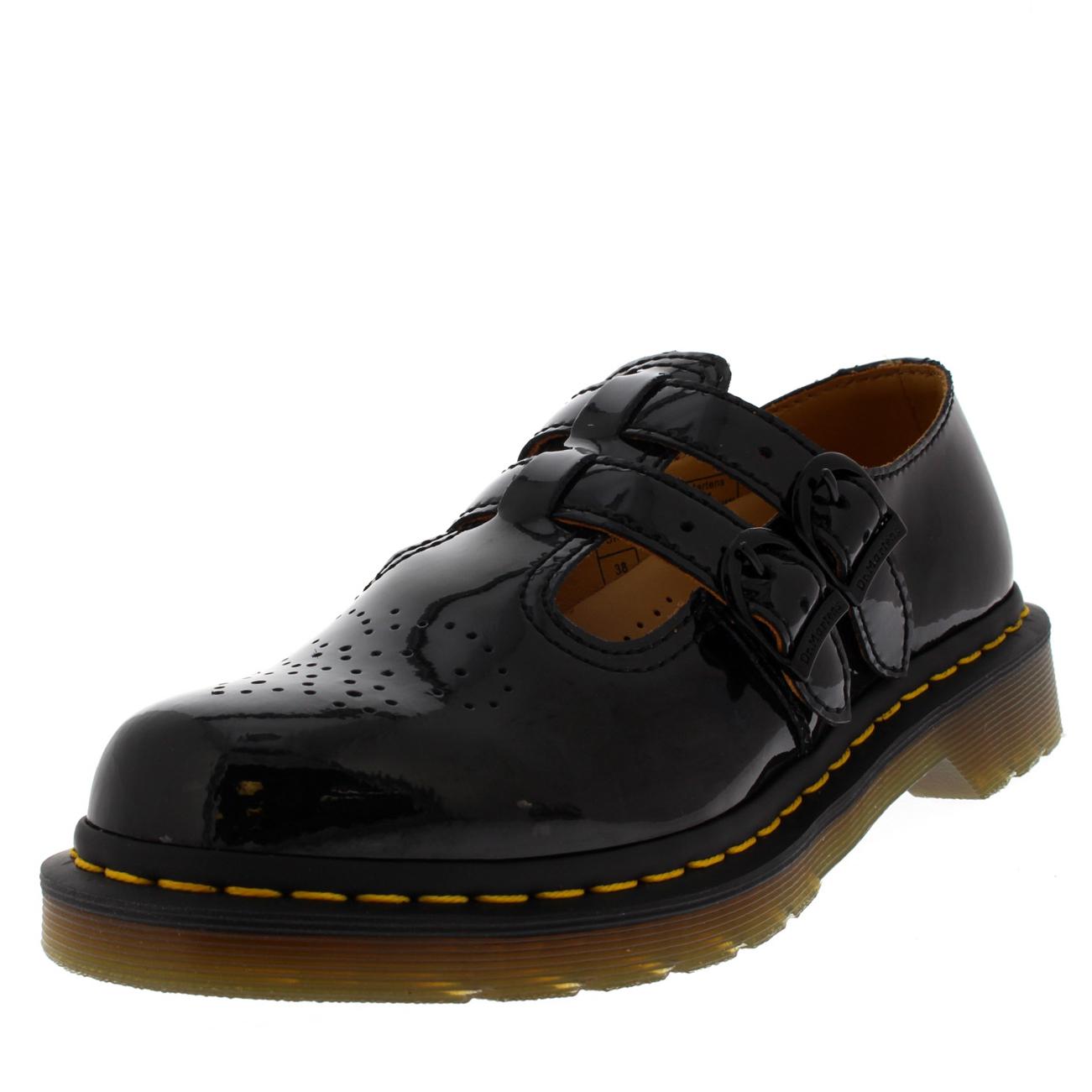 Dr.Martens Womens 8065 Mary Jane Leather Shoes, Black, 43 EU