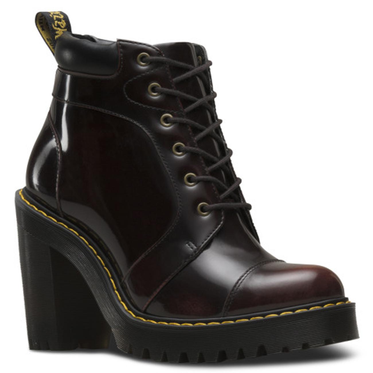 Womens Dr Martens Averil Fusion Seriene Originals Block Heel Ankle Boot US  5-11 478850083339