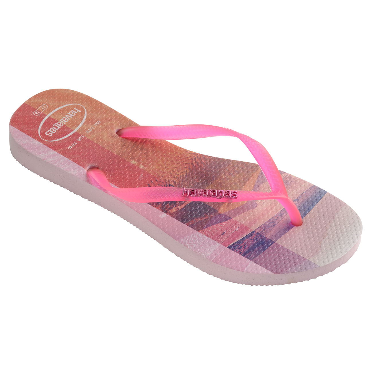 Ladies Havaianas Summer Slim Paisage Thong Toe Post Holiday Summer Havaianas Sandals All Talla fde876