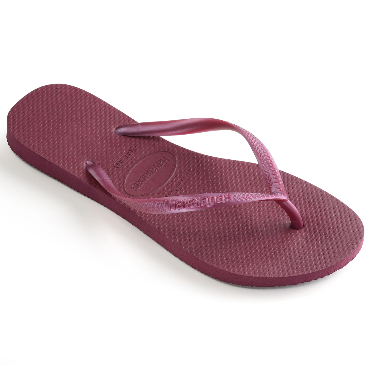 da1c7221df2eaa Image is loading Womens-Havaianas-Slim-Beetroot-Summer-Rubber-Beach-Brazil-