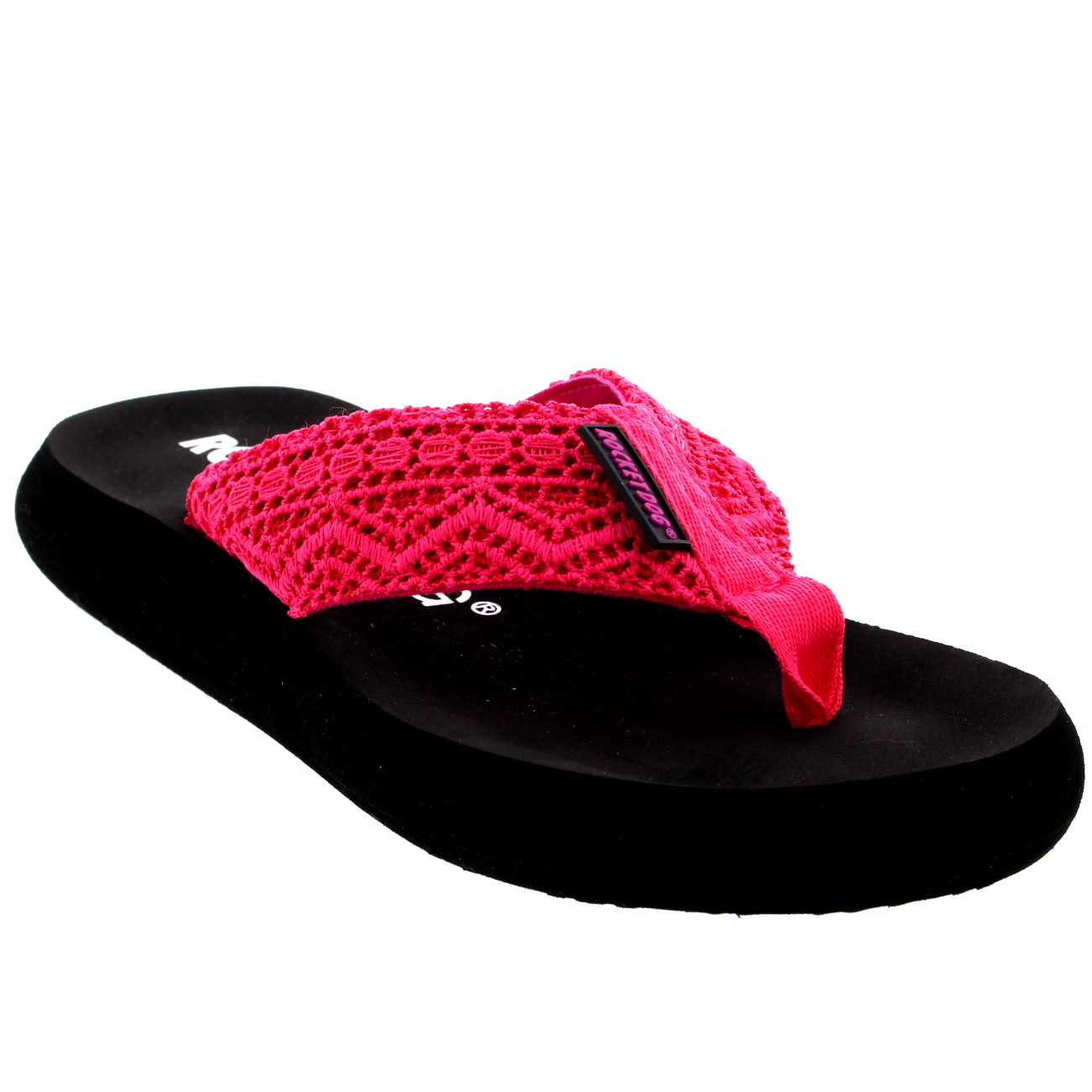 2f72c82825a Womens Rocket Dog Spotlight Lima Crochet Sandals Beach Summer Flip ...
