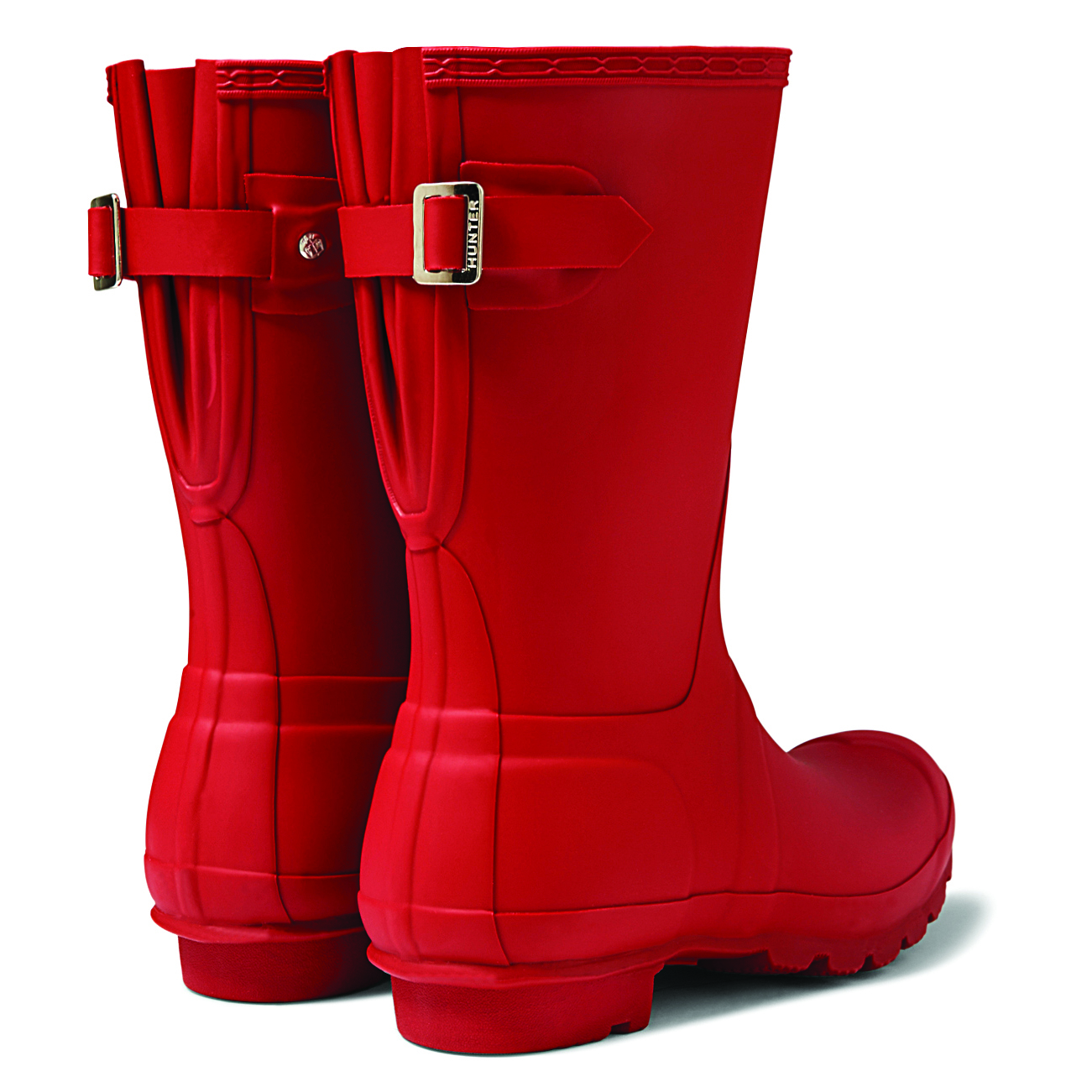 c494dfd6ccd Details about Womens Hunter Original Adjustable Back Short Snow Rain Boot  Wellingtons US 5-11