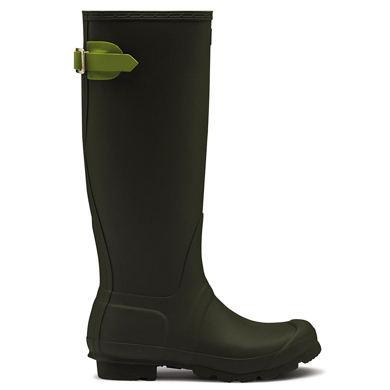 Womens Hunter Adjustable Back Wellingtons Waterproof Rubber Rain Boots US 5-11 | eBay