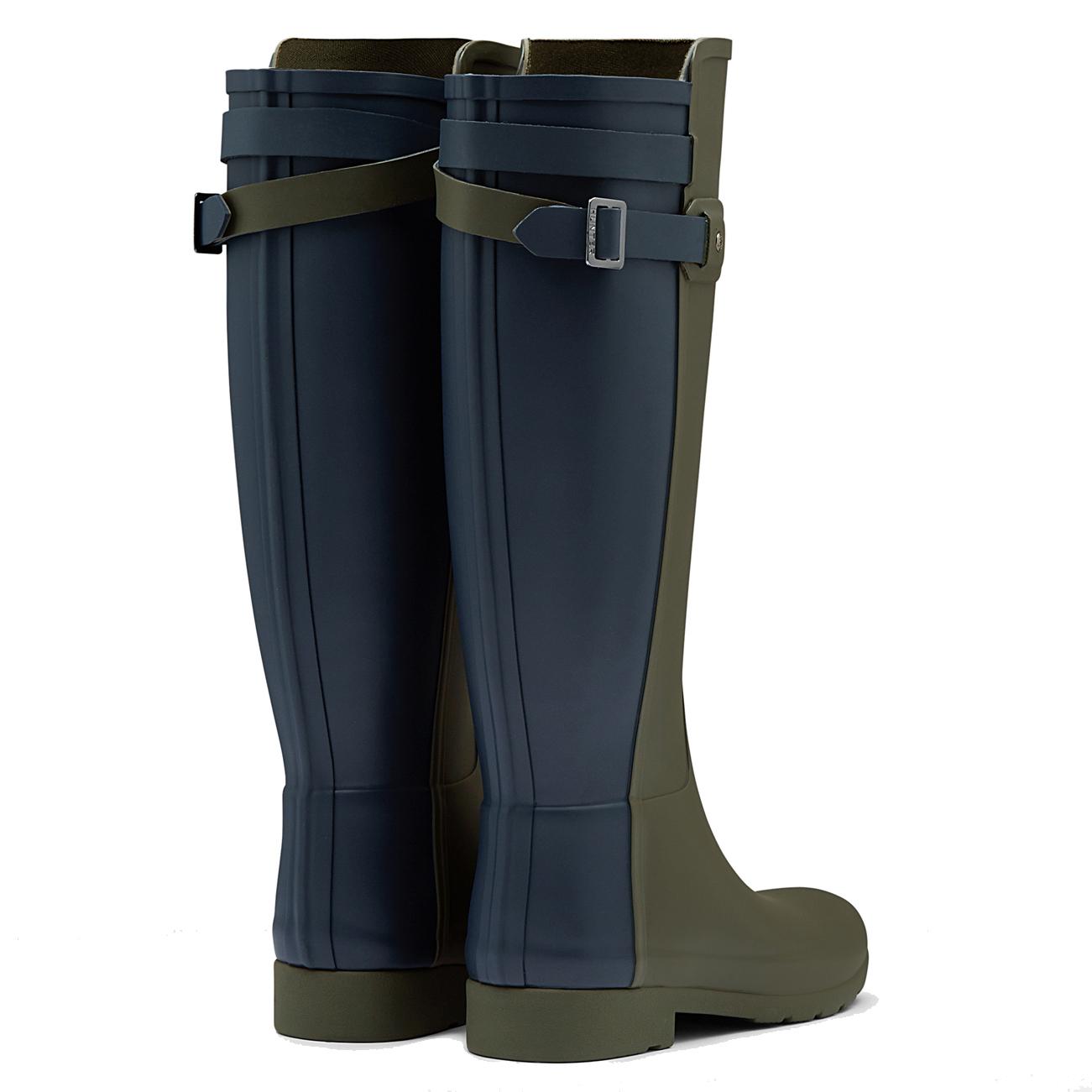 Hunter rain boots navy