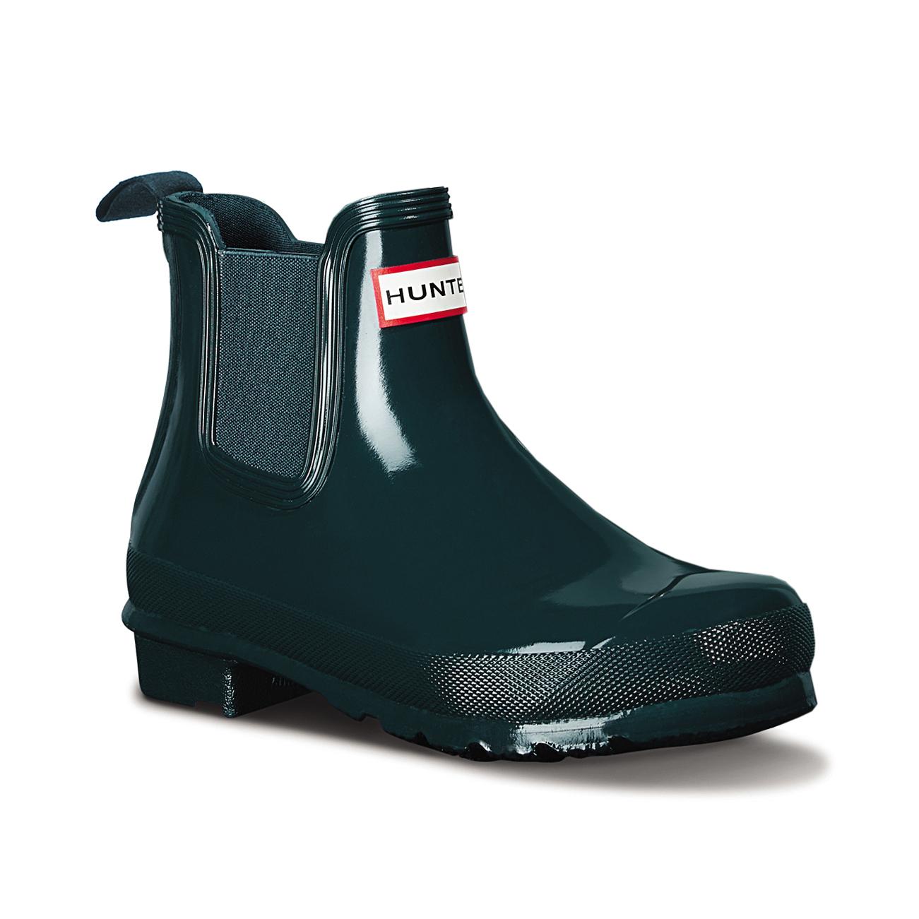 9a1bd40db27 Womens Hunter Original Chelsea Gloss Wellingtons Winter Ankle Rain Boots US  5-11 | eBay