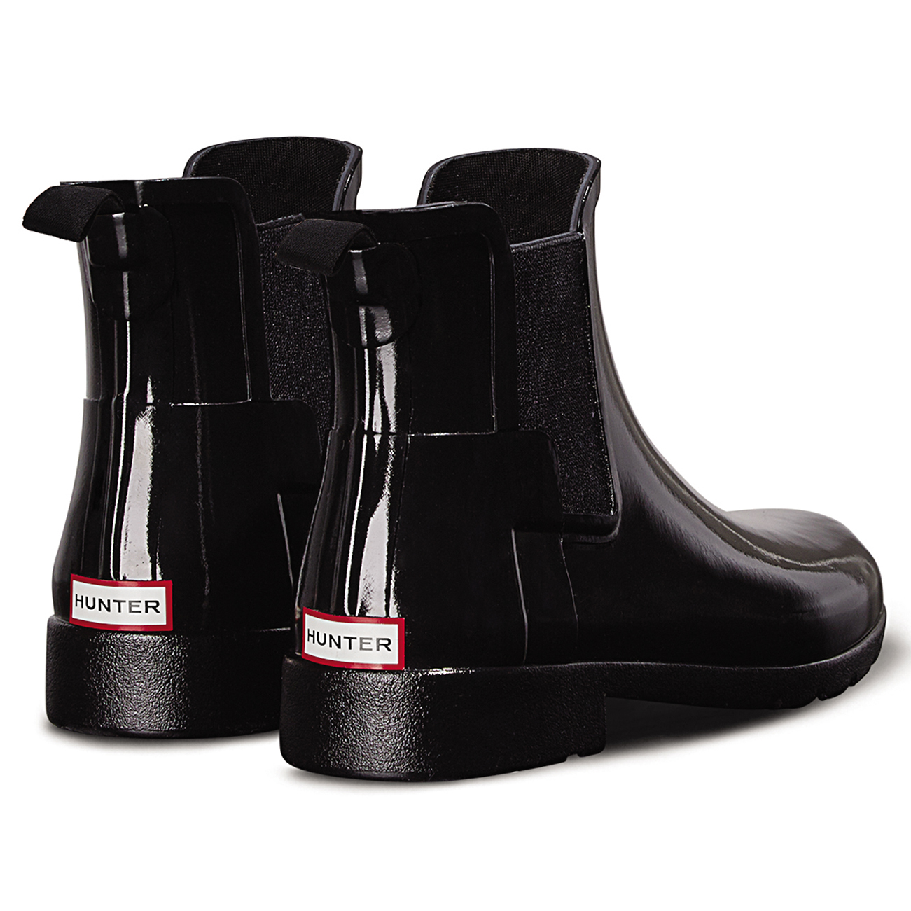 new authentic cheapest price official images Womens Hunter Original Refined Chelsea Gloss Wellingtons Ankle ...