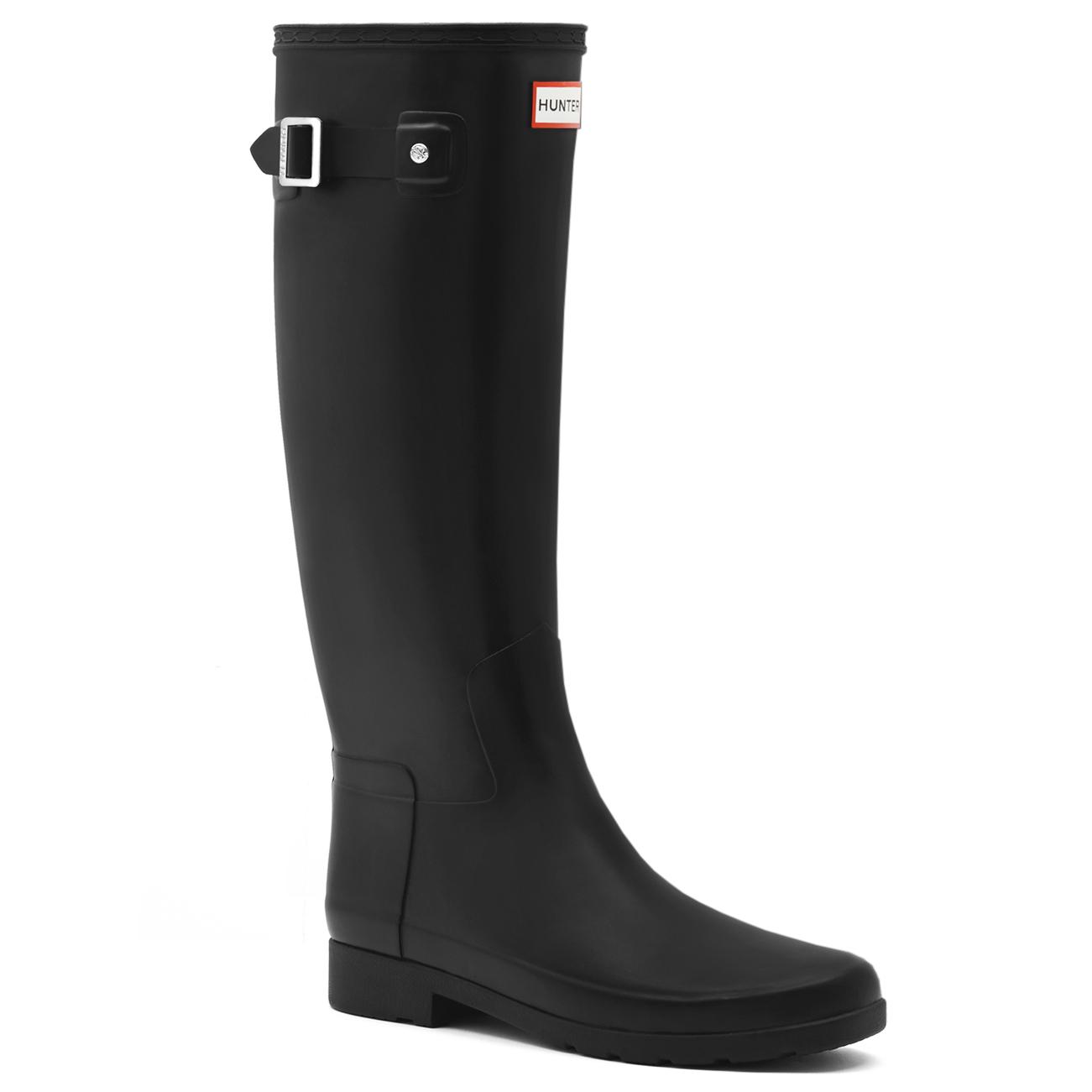 ed34750f0687 Womens Hunter Original Refined Waterproof Snow Wellingtons Rain Boots US  5-11