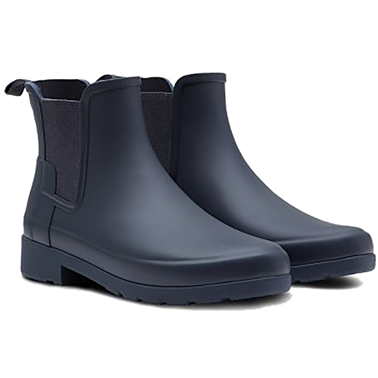a6f57ce3250b Hunter Original Refined Chelsea Short Rain BOOTS 235 Black 8 US   39 ...
